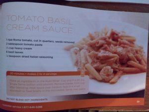 Tomato Basil Cream Sauce