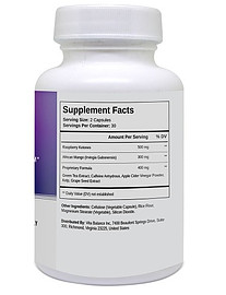 KETO DIET supplement facts