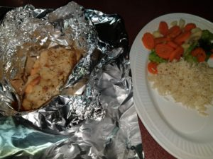 Oven-Baked Salmon Foil Pack with Shrimp