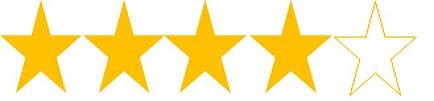 4 Star Rating on Amazon
